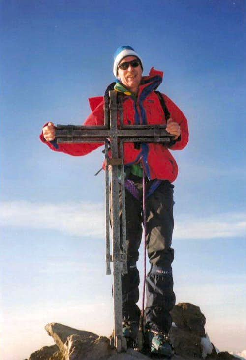 The Nadelhorn summit cross