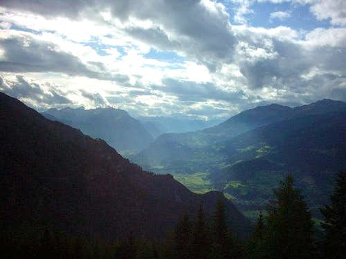 The Drautal seen from...