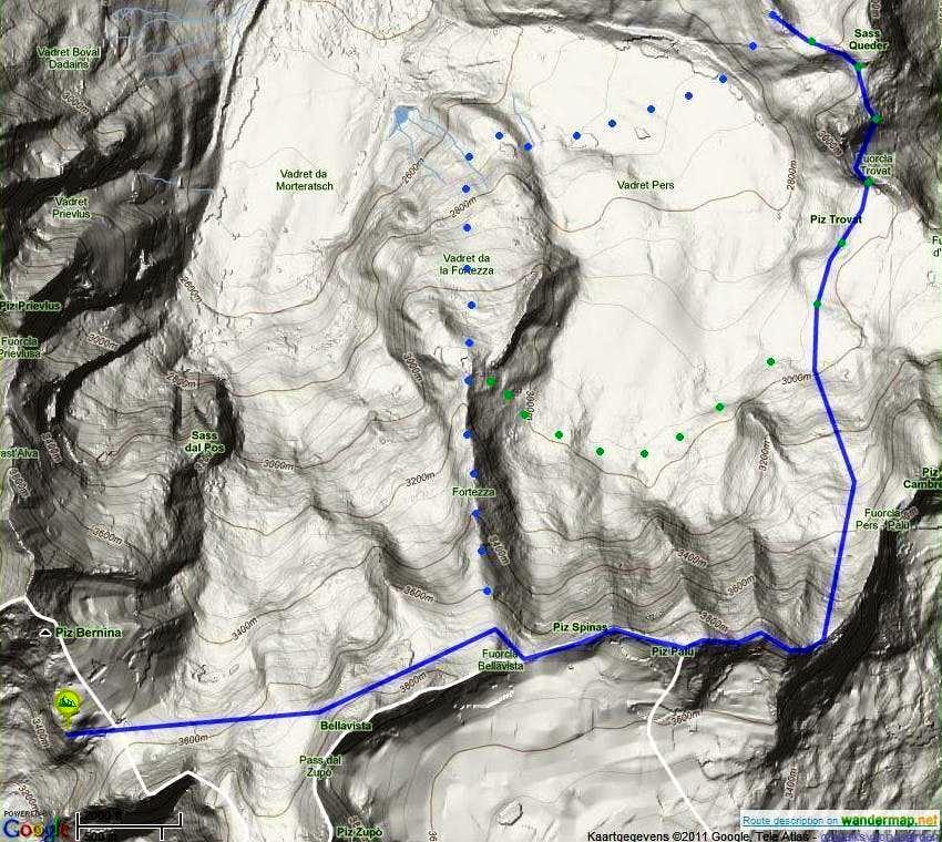 Piz Palü Traverse routes