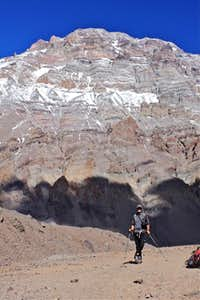 Pose with Aconcagua in the background
