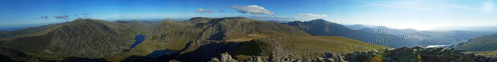 Panorama of the view from the Summit of Y Garn