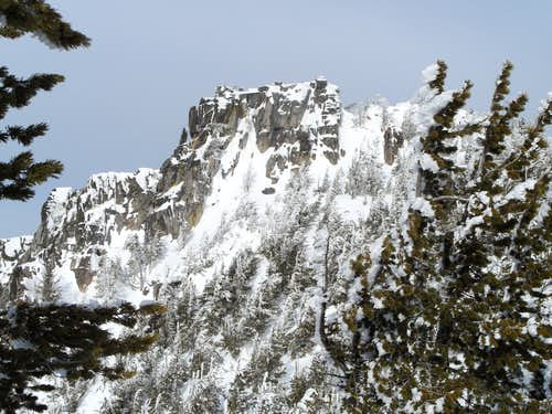 Lees Peak in winter
