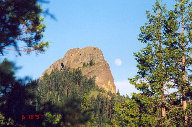 Moonrise over Pilot Rock