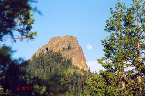 Moonrise over Pilot Rock....
