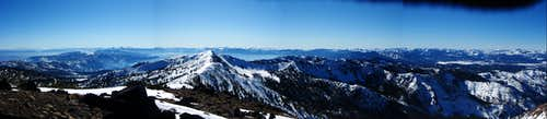 Panoram of Tahoe from Mount Houghton