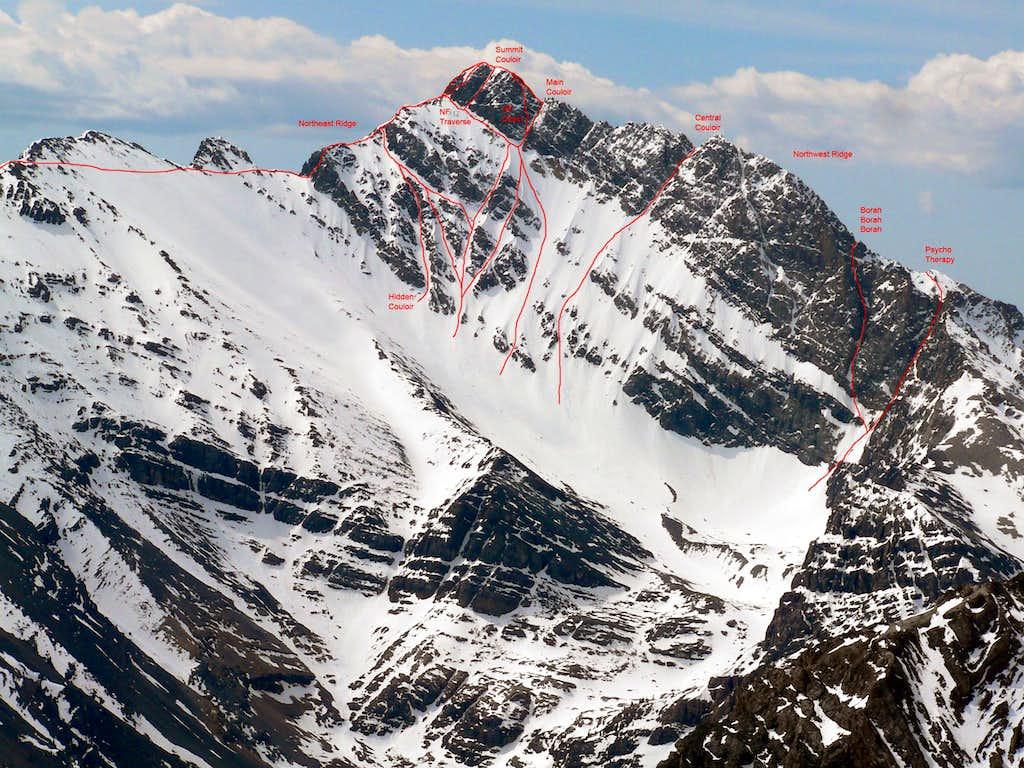 North Face of Mt Borah Route Photo