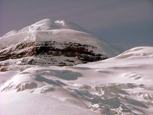 Climbers on the way back. Cotopaxi.