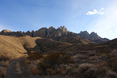 Organ Mountains from Modoc Mine Road