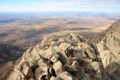Organ Needle: summit view west