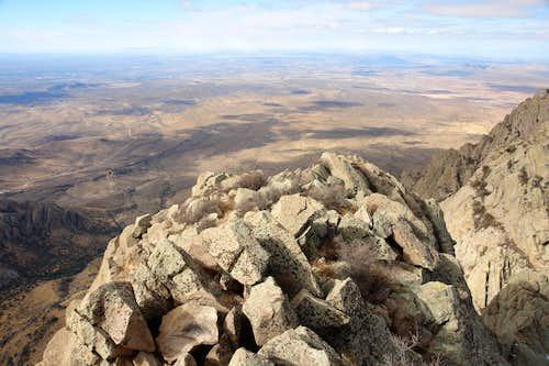 Organ Needle: summit view west