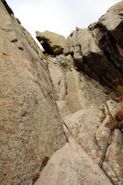 The route to the top of  the east summit tower on Organ Needle