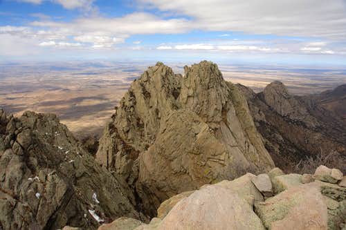 Little Squaretop from the east summit of Organ Needle