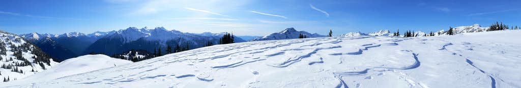 Wind Blown Slopes Panorama