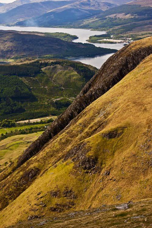 Loch Linnhe from Ben Nevis route