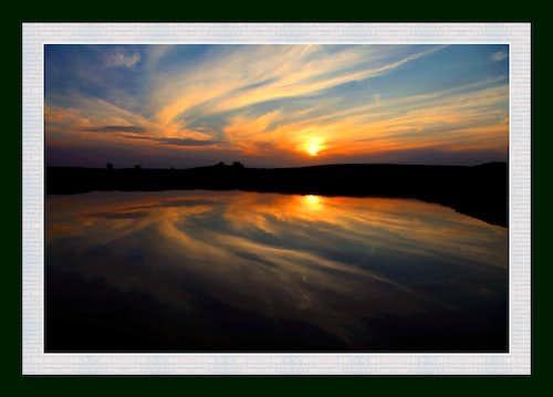 Setting Sun in Cholistan Desert Pakistan