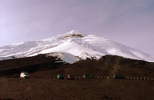 Cotopaxi from the parking lot.