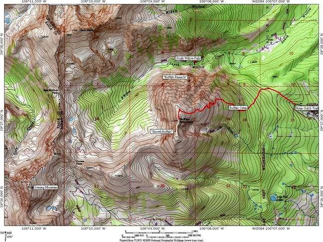 A topo of Buffalo Mountain in...