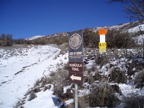Trail head for the Humuula Trail