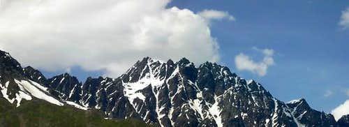 il mont Vélan versante Est...