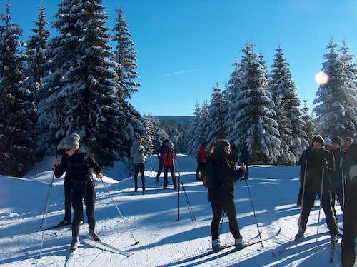 Cross-country skiers near Jakuszyce