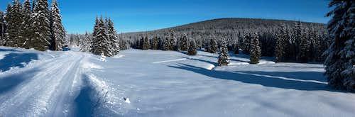 Cross-country skiing near Jakuszyce