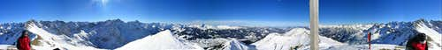 View from Hammerspitze/Schüsser