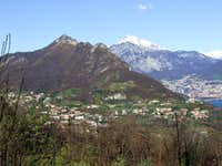 Galbiate, Monte Barro, Grigne on background