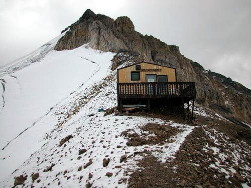 The Neil Colgan Hut with...