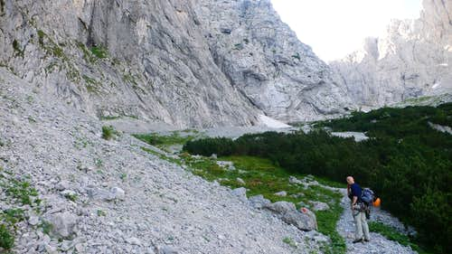 The route starts at the snowpatch.