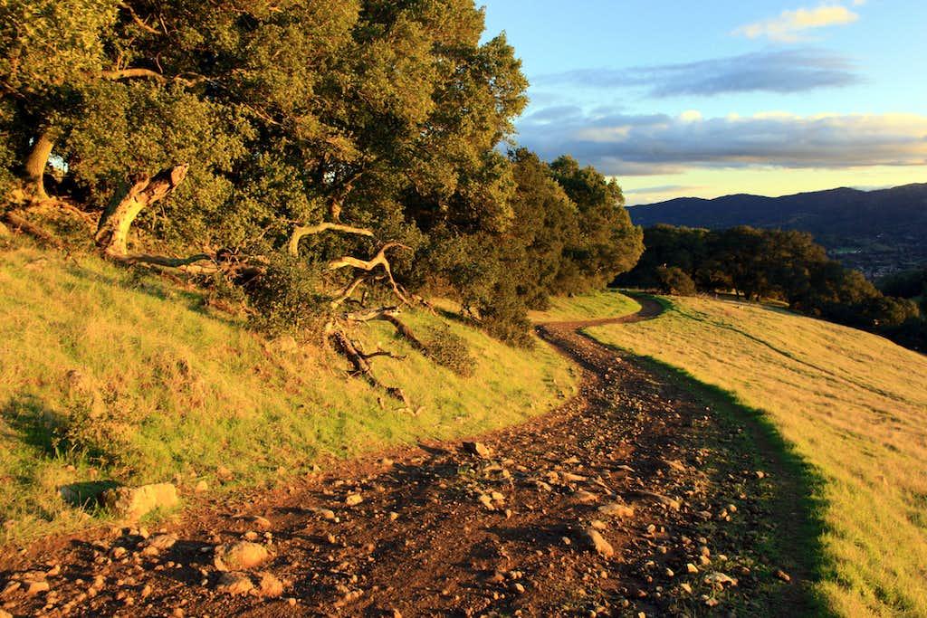 Rocky trail on Burdell Mountain