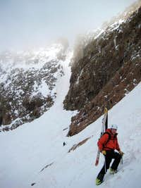 The East Couloir on Mt. Eolus