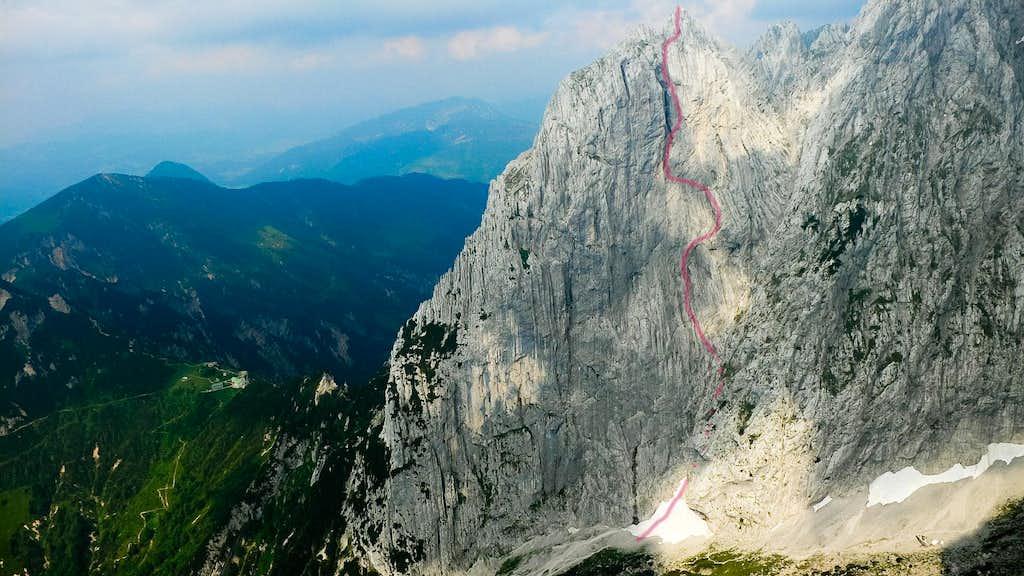 Westwand from Kleine Halt