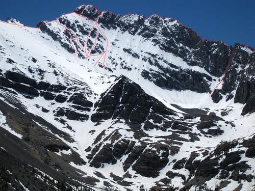 North Face in June (route photo)
