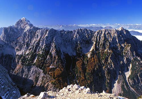 From the summit of Mojstrovka...
