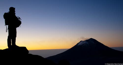"View of the Popocatepetl from the ""White Woman"""