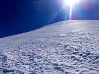 Middle of Jamapa Glacier. Pico de Orizaba