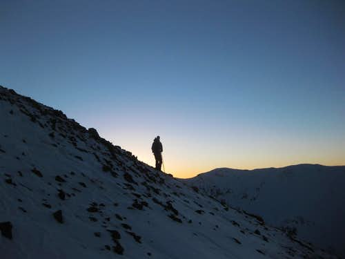 Winter Sunset on Mt. Belford