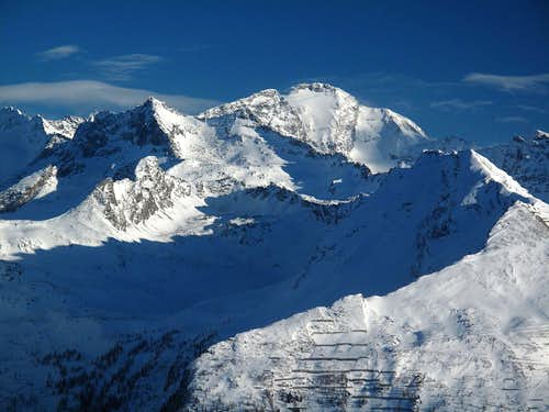 Close-up on the Ankogel group in winter