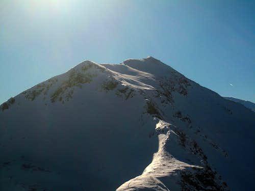 The Zittrauer Tisch (2463m) in winter