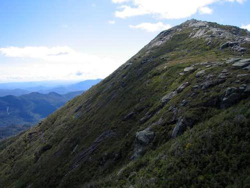 Haystack's impressively steep...