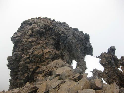 The northwestern summit of Sincholagua