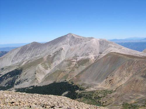 Mount Antero from the slopes...