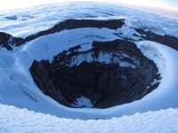 Volcanic crater on summit