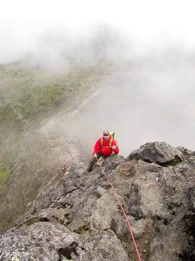 Rock climbing on rucu