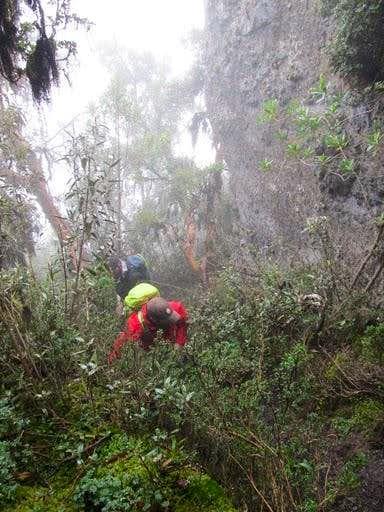 Climbing Pasochoa