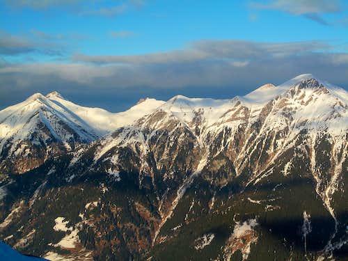 Some peaks north east of Badgastein