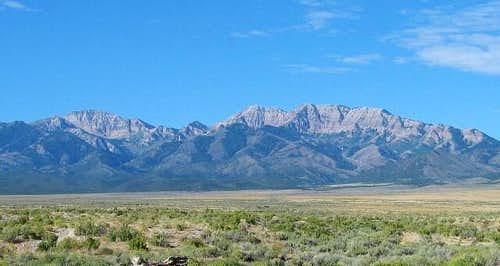 Deseret Peak (on the left)...