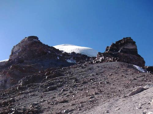 The approach to Sajama high camp