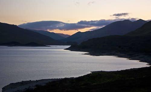 Loch Cluanie at dusk