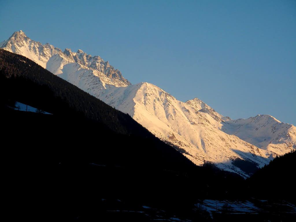 Looking up the Val d'Entremont from Orsières